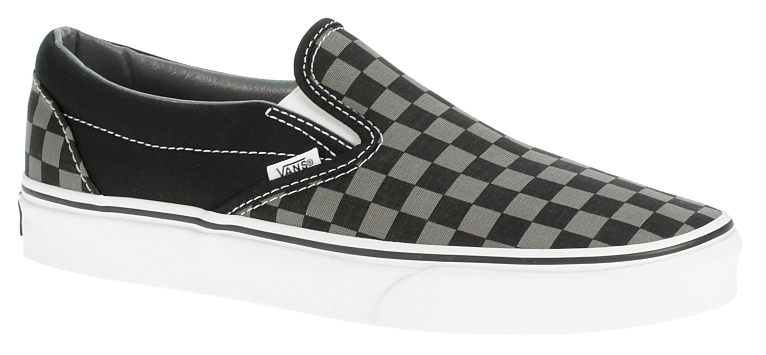 shoes Vans Classic Slip-On - Black/Pewter Checkerboard ...