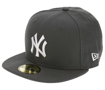 kšiltovka New Era 59F League Basic MLB New York Yankees - Graphite/White Logo