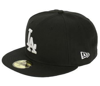 kšiltovka New Era 59F League Basic MLB Los Angeles Dodgers - Black/White