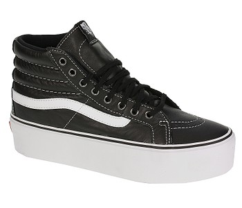 d4b74163826 BOTY VANS SK8-HI PLATFORM - LEATHER BLACK TRUE WHITE - skate-online.cz