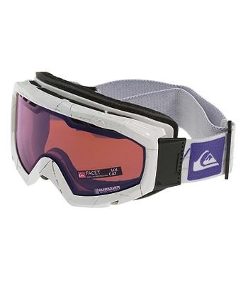 okuliare Quiksilver Facet Flat - P8T White Polarized Red - snowboard ... b8c7c38f3b1