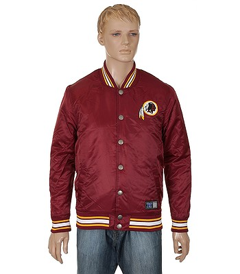 new product 08e46 19610 jacket Majestic Athletic Tarr Satin NFL Washington Redskins ...