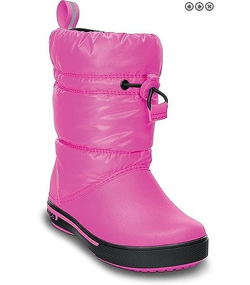 boty Crocs Crocband Iridescent Gust Boot - Neon Magenta Black -  snowboard-online.cz c9fc296f02