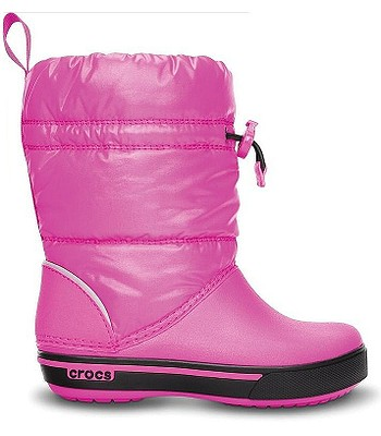 boty Crocs Crocband Iridescent Gust Boot - Neon Magenta Black ... 533836082c