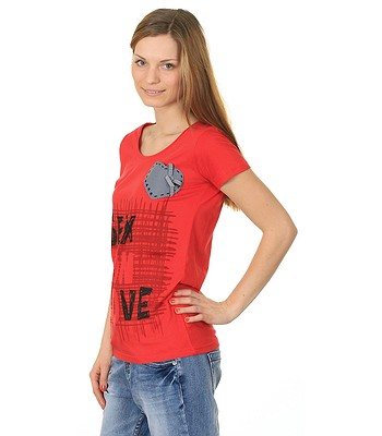 567d9ef1085 Desigual 35Z2464 San Valentin T-shirt - 3092 Rojo - snowboard ...
