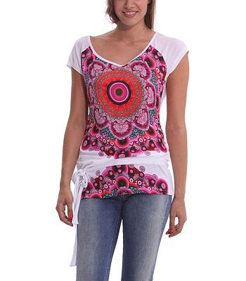 4db9bd20b63 T-shirt Desigual 40T2408 Olga - 1000 Blanco - snowboard-online.eu