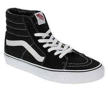boty Vans Sk8-Hi - Black/Black/White