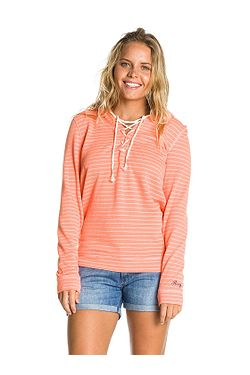 mikina Roxy Beach Party Fleece - MGE3 Beach Party Stripe Peach Orange 275201f0455