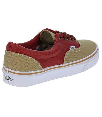 053ef8758c40ec topánky Vans Era - Leather Quarter Khaki Red