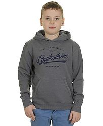 mikina Quiksilver Hood Rib Good Youth G7 - KPWH Medium Gray Heather 97bb9925150