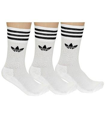 adidas Originals Solid Crew Sock 3 Pack SOcks - White Black -  blackcomb-shop.eu a214d4fc3fd