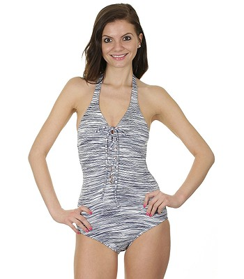 f4906b09681 bathing suit Roxy Halter Onepiece - WBS6 Road Less Traveled Sea Spray