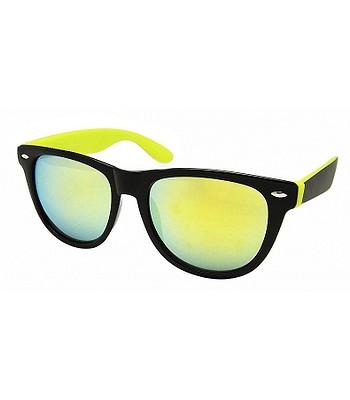 1263b7a11dc sunglasses Ray Flector W2236 Classic Fashion 2 Tone Mirrored - Black Yellow  - snowboard-online.eu