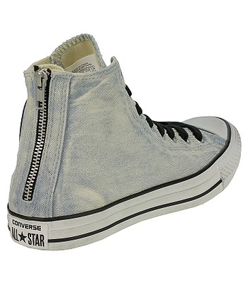bffe018092c1 Converse Chuck Taylor All Star Back Zip Hi Shoes - 146989 Light Blue Converse  Black Converse White