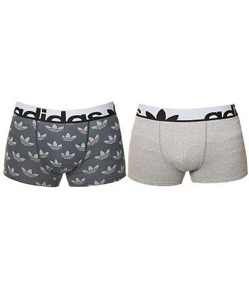 Trenky Adidas Originals Knitted Boxer 2 Pack Print Medium Gray