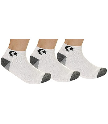 low priced official store shoes for cheap socks Converse Low Cut 3 Pack - E143W/White/Black ...