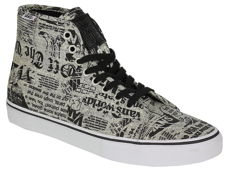 vans av classic high chaussures newsprint