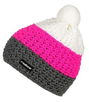 čepice Relax RKH73 - E Medium Gray Neon Pink White - snowboard-online.cz 063fa33041