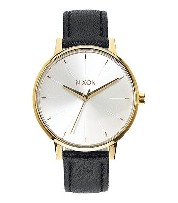 f73ad7d5515 hodinky Nixon Kensington Leather - Gold White Black