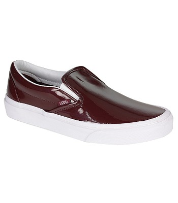 c6c031d186f694 shoes Vans Classic Slip-On - Tumble Patent Burgundy - snowboard-online.eu