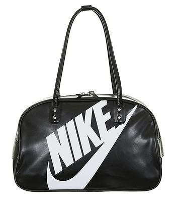 043f1b577df5 taška Nike Heritage SI Shoulder Club - 010/Black/Black//White   Blackcomb.cz