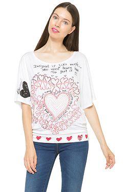 tričko Desigual 61T24R8 Lalia - 1000 Blanco ... bb474ae0445