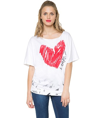 0012953ab308 tričko Desigual 61T25A4 Domingo - 1010 Tiza