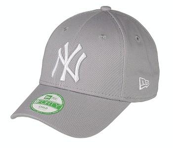 kšiltovka New Era 9FO League Basic MLB New York Yankees Child - Gray/Optic White