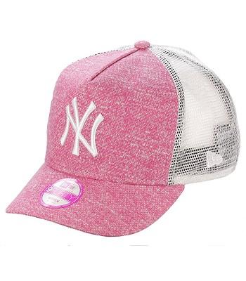 kšiltovka New Era 9FO Flecked Trucker MLB New York Yankees - Pink White  77c6029308