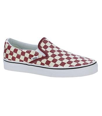 topánky Vans Classic Slip-On - Checkerboard Rhubarb White  8066c60da54