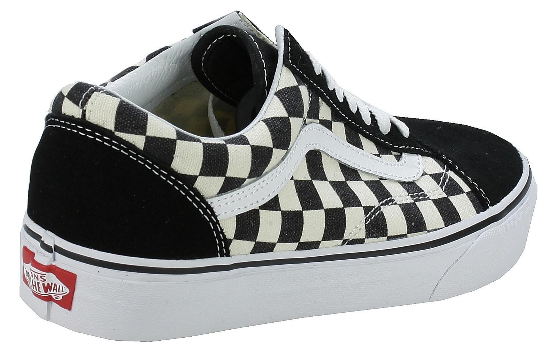 vans checkerboard skórzane