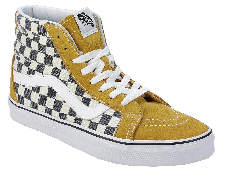 vans checkerboard pomarańczowe