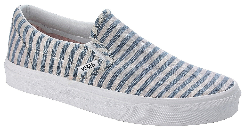 vans slip on stripes navy