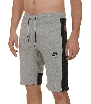 kraťasy Nike Hyb FLC Short-Air - 063 Dark Gray Heather Black Black ... 184ea8396e