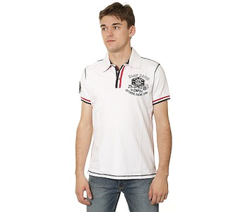 a1de1c3ac0a3 TRIČKO CAMP DAVID CCB-1603-3788 POLO - OPTIC WHITE - skate-online.sk