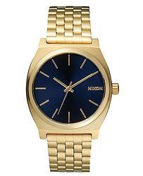 d2538498c hodinky Nixon Time Teller - All Light Gold/Cobalt