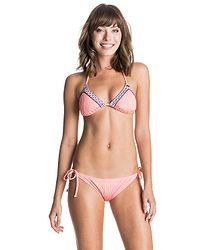 d29d3b2d7 plavky Roxy Tiki Tri/Tie Side Scooter - MGE0/Sunkissed Coral