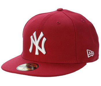 kšiltovka New Era 59F Basic MLB New York Yankees - Scarlet/White Logo
