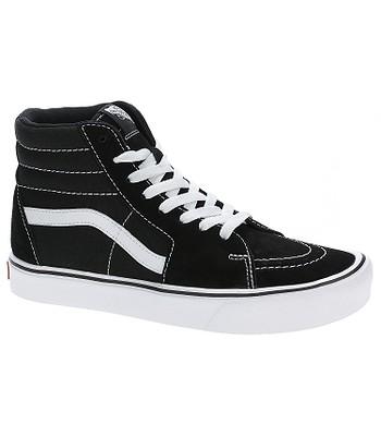 topánky Vans Sk8-Hi Lite - Suede Canvas Black White - snowboard ... 38a053b295