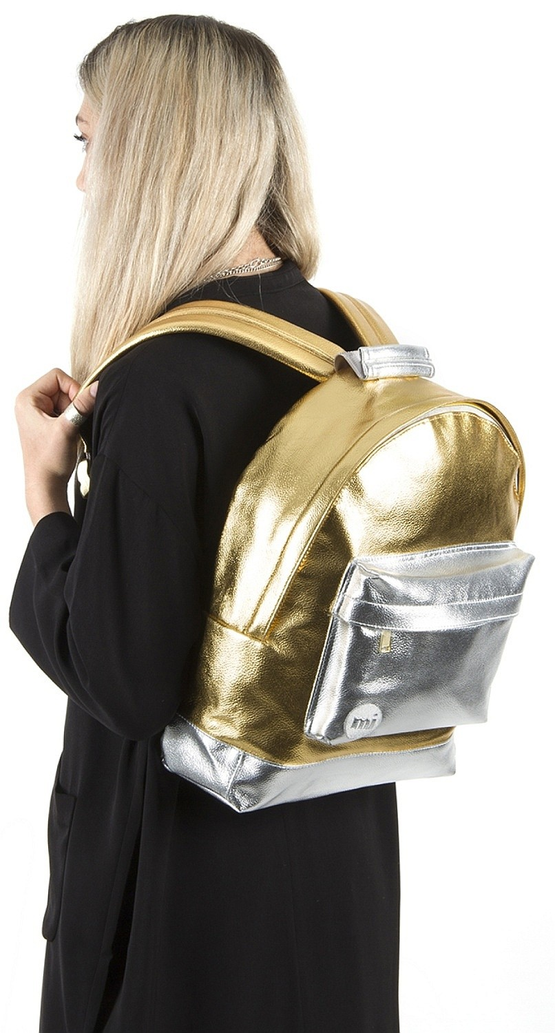 24K Gold//Silver Mi-Pac Gold Backpack