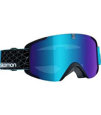 okuliare Salomon Xview - Black Blue Universal Mid Blue - snowboard ... 4dfaaf08c55