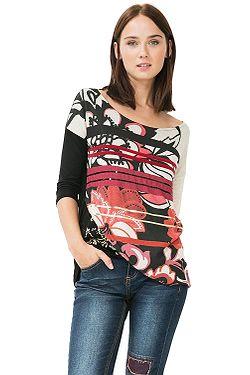 tričko Desigual 67T25B0 Loli - 3082 Ruby Wine 71ed5626672