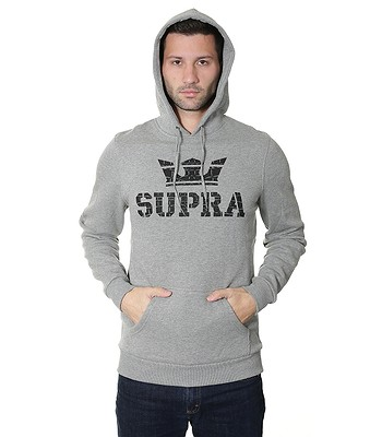 mikina Supra Above Pullover - Gray Heather Black - snowboard-online.sk 632f2288cb2