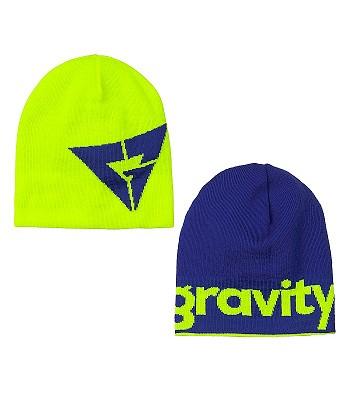 čepice Gravity Logo Revesible - Lime Blue - snowboard-online.cz fc24228fc7