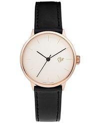 76ff84754 hodinky CHPO Khorshid Mini Rose - 14231AA/Rose Gold/Black Vegan Leather