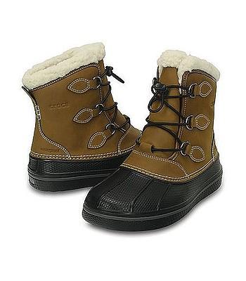 f3e657e5230 boty Crocs AllCast II Boot K - Wheat