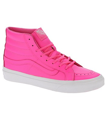 98d3fd97a8a shoes Vans Sk8-Hi Slim - Neon Leather Neon Pink True White -  snowboard-online.eu