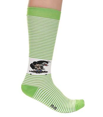 0fe5c6c6ad8 ponožky Boma Krtek Long - Stripe Green White - snowboard-online.sk
