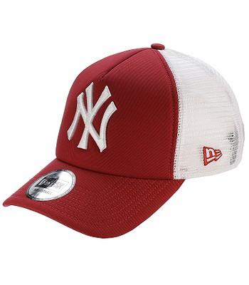 7a19fa3d7da77 cap New Era Clean Trucker MLB New York Yankees - Scarlet White -  blackcomb-shop.eu