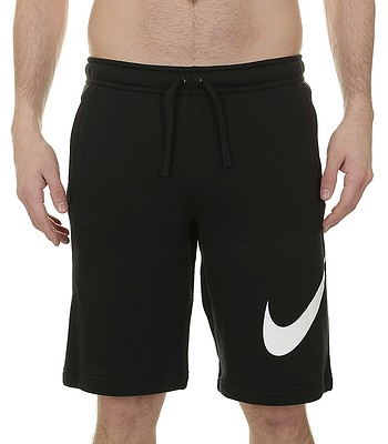 kraťasy Nike Sportswear Fleece Explosive Club - 010 Black White ... b9ad63b81f